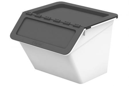 Klassischer Pelican Stack & Nest Vorratsbehälter - 15 Liter Volumen - Klassischer Pelican Stack & Nest Vorratsbehälter (15 l Volumen) in Grau.