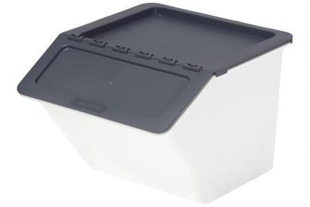 Klassischer Pelican Stack & Nest Vorratsbehälter - 22 Liter Volumen - Klassischer Pelican Stack & Nest Vorratsbehälter (22 l Volumen) in Grau.