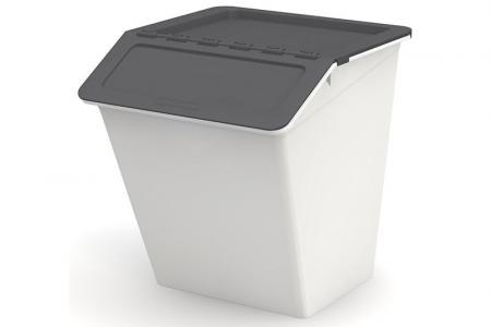 Klassischer Pelican Stack & Nest Vorratsbehälter - 38 Liter Volumen - Klassischer Pelican Stack & Nest Vorratsbehälter (38 l Volumen) in Grau.