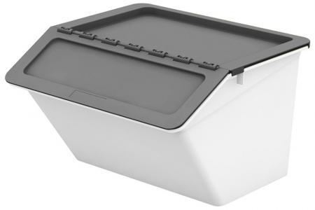 Klassischer Pelican Stack & Nest Vorratsbehälter - 30 Liter Volumen - Klassischer Pelican Stack & Nest Vorratsbehälter (30 l Volumen) in Grau.