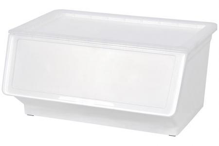 Breiter Pelican Stack & Nest Vorratsbehälter - 46 Liter Volumen - Breiter Pelican Stack & Nest-Vorratsbehälter (46 l Volumen) in klar.