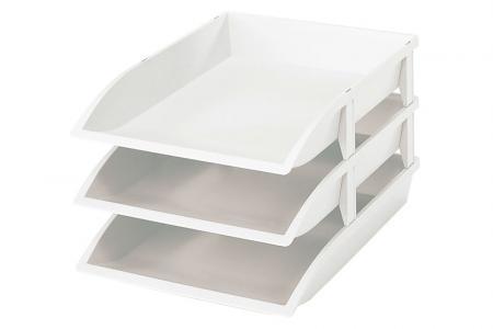 4 Tray Lunaire blanc Plastique