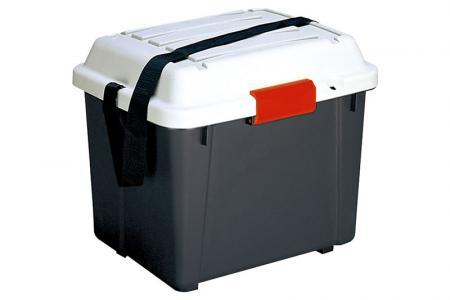Abschließbare Hartschalen-Aufbewahrungstruhe - 36 Liter Volumen - Abschließbare Hartschalen-Aufbewahrungskiste (36 l Volumen).
