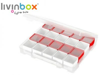 Scrapbook case with boxes organizer - Portable file case with small organizers