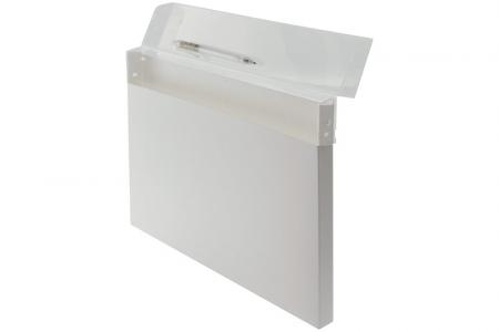 Solid Everyday Carry File for 150 Sheets of A4 Sized Paper - Solid Everyday Carry File for 150 sheets of A4-sized paper in white.