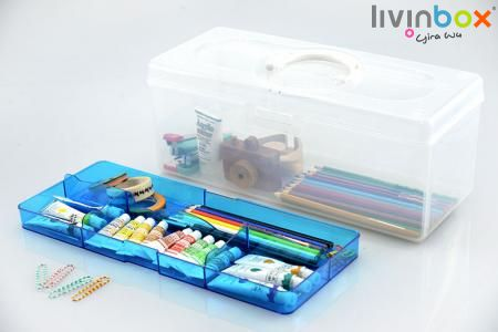 Hobby & Craft Organizer - Plastic Box, Portable Box, Hobby Box, Plastic Storage Box