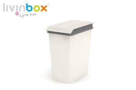 Thùng rác nhỏ có nắp, 10L - Thùng rác nhỏ có nắp (thể tích 10L) màu xám.