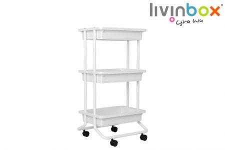 Rolling Cart - 3 tier rolling cart for kitchen, garden, livingroom