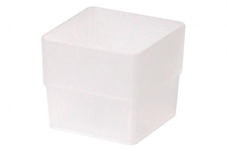 Tall Square Box in Small Size - Tall Square Box (small size) in clear.