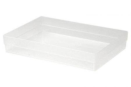 Squat Square Box in Medium Size - Squat Square Box (medium size) in clear.