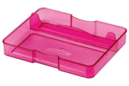 Desk Drawer Tidy with 2 Compartments - Desk drawer tidy with 2 compartments in pink.