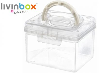 Portable Project Case - 1.7 Liter Volume - Portable project case (1.7L volume) in clear.