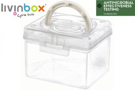 Portable Antibacterial Craft Organizer Box, 1.7 Liter - Portable antibacterial hobby organizer