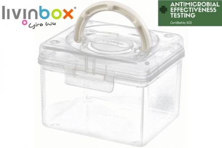 Portable Antibacterial Craft Organizer Box, 1.7 Liter