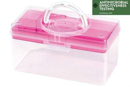 Portable Antibacterial Craft Organizer Box, 3 Liter - Portable antibacterial hobby storage