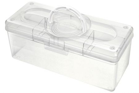 Portable Project Case - 5.3 Liter Volume - Portable project case (5.3L volume) in clear.