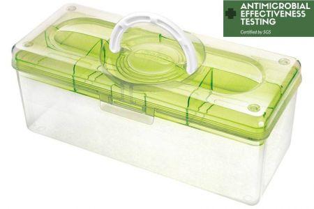 Hộp tổ chức thủ công kháng khuẩn di động, 5,3 lít - Hộp lưu trữ sở thích kháng khuẩn có thể khóa