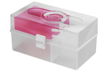 Portable Project Case - 10 Liter Volume - Portable project case (10L volume) in pink.