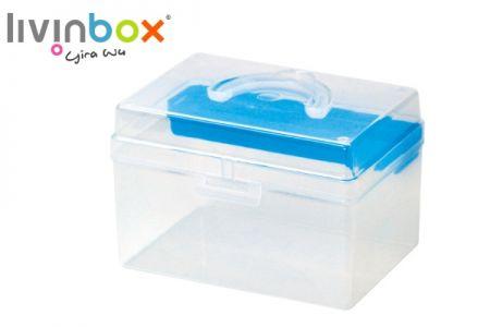 Portable Craft Organizer Box with Inner Tray, 5.8 Liter