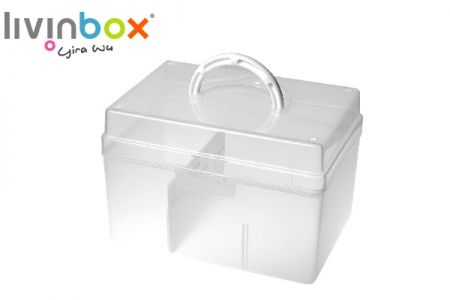 Portable Craft Organizer Box with Divider, 5.8 Liter - Portable Craft Organizer Box with Divider, 5.8 Liter