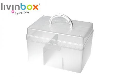 Portable Craft Organizer Box with Divider, 5.8 Liter