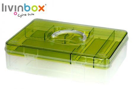 Portable Craft Organizer Box, 6.3 Liter - Portable Craft Organizer Box, 6.3 Liter