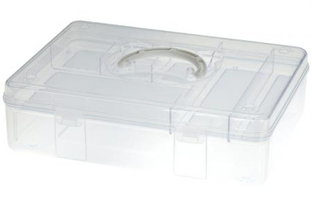 Fun Bear Storage Box - 6.3 Liter Volume - Fun Bear storage box (6.3L volume) in clear.