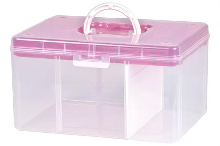 Fun Bear Storage Box - 12.6 Liter Volume - Fun Bear storage box (12.6L volume) in pink.