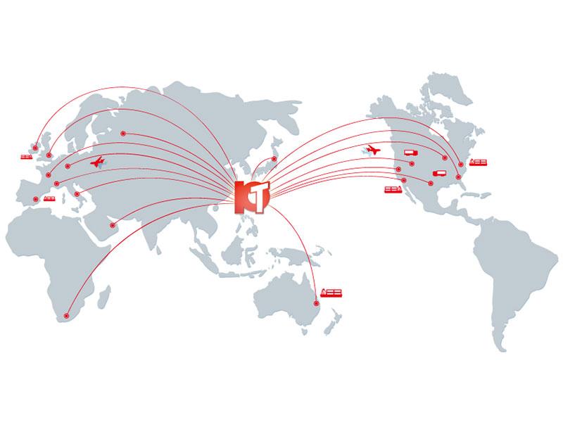 Экспорт ПТ клиентам по всему миру.