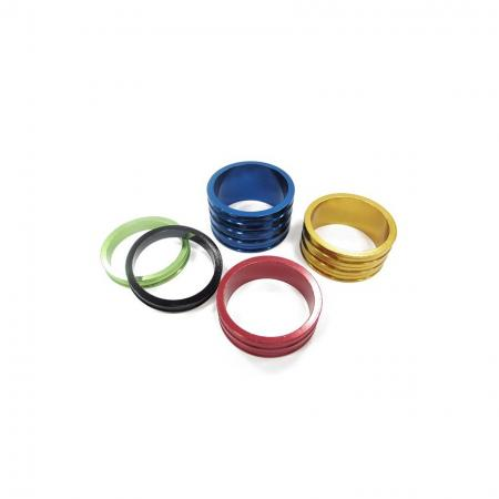 Wave Type Alloy Headset Spacer - Anodized Aluminum headset spacer, wave type