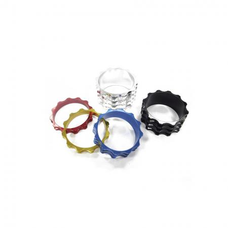 Petal Type Alloy Headset Spacer - Anodized Aluminum headset spacer, Petal Type