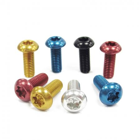 Bottle Cage Bolt Round Head - Anodized bottle cage bolt