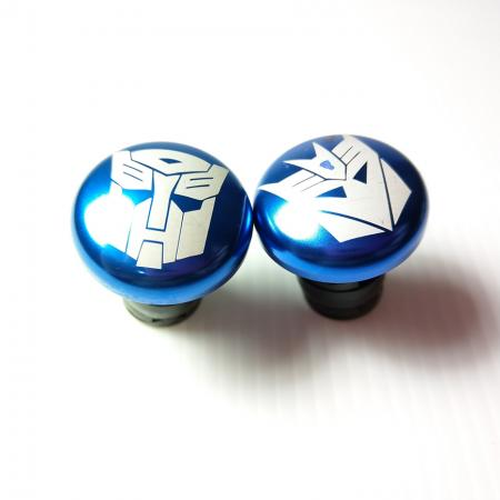 Aluminum Bar End Plugs - Anodized bar end plugs
