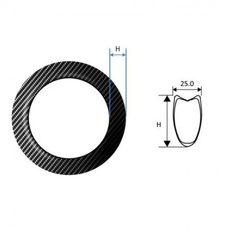 Carbon Fiber Rim, Road Tubular - Carbon Fiber Rim, Road Tubular 25 mm wide