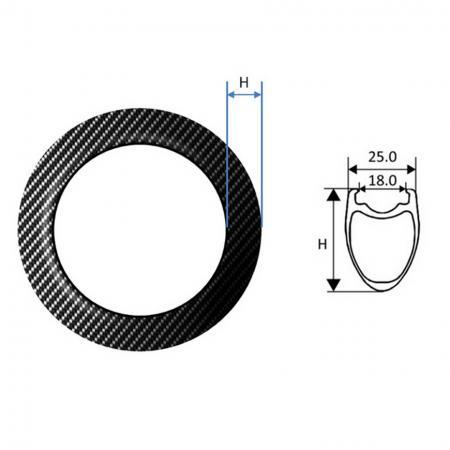 Carbon Fiber Rim, Road Tubuless - Carbon Fiber Rim, Road Tubuless 25 mm wide