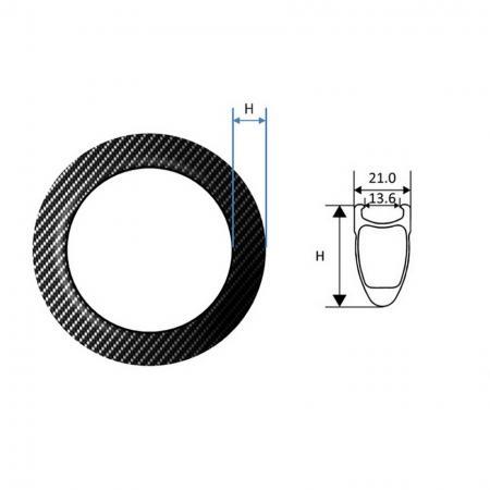 Carbon Fiber Rim, 20 inch - Carbon Fiber Rim, Folding bike