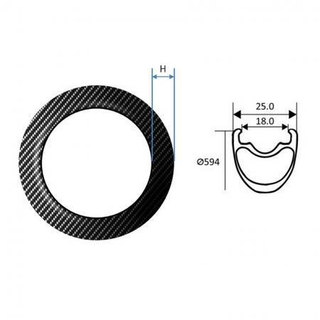 Carbon Fiber Rim, MTB - Carbon Fiber Rim, MTB