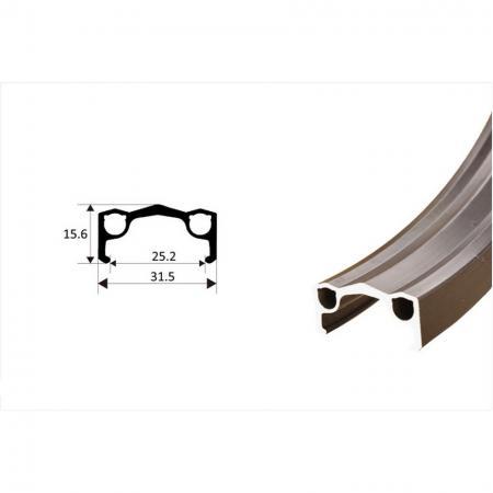 Aluminum Single Wall Rim - Extruded Aluminum Single Wall Rim