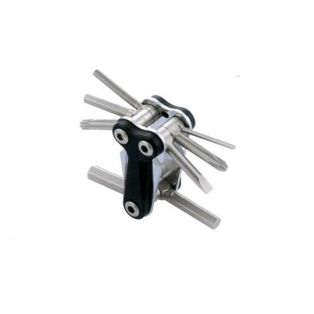 12 in 1 Flat Tool, Letter Y - 12 in 1 multi tool with plastic body in shape letter Y and Cr- V bits