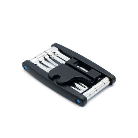16 in 1 Folding Tool, Black Chain Tool
