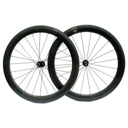 Bike Wheel - Carbon Fiber Wheel Set with 58 mm Profile.