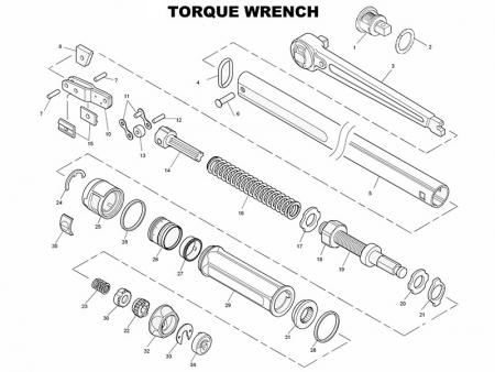 The BOM of a torque wrench