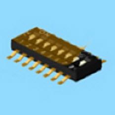 Dip-Schalter vom Typ Half Pitch - DHN(F) Dip-Schalter