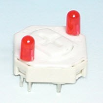 Schlüsselschalter - zwei LED - Schlüsselschalter (LT2-15-2)