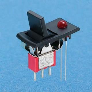 Miniatur-Wippschalter mit LED - Wippschalter (R8015-P34)