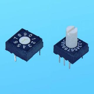 Rotary Switch - 10x10 thru-hole - Dip Switches (RH)