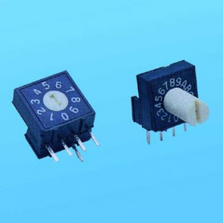 Rotary Switch - 10x10 right angle - Dip Switches (RV)