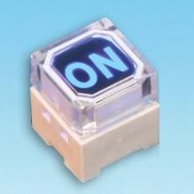 Illuminated Tact Switch - one LED - Tact Switches (SPL-10-1 Single color LED)