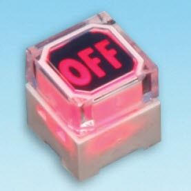 Illuminated Tact Switch - two LED - Tact Switches (SPL-10-2 Dual color LED)