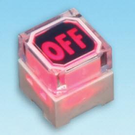 Beleuchteter Taktschalter - zwei LEDs - Taktschalter (SPL-10-2 Zweifarbige LED)
